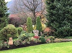 Weitsicht Gartenanlage